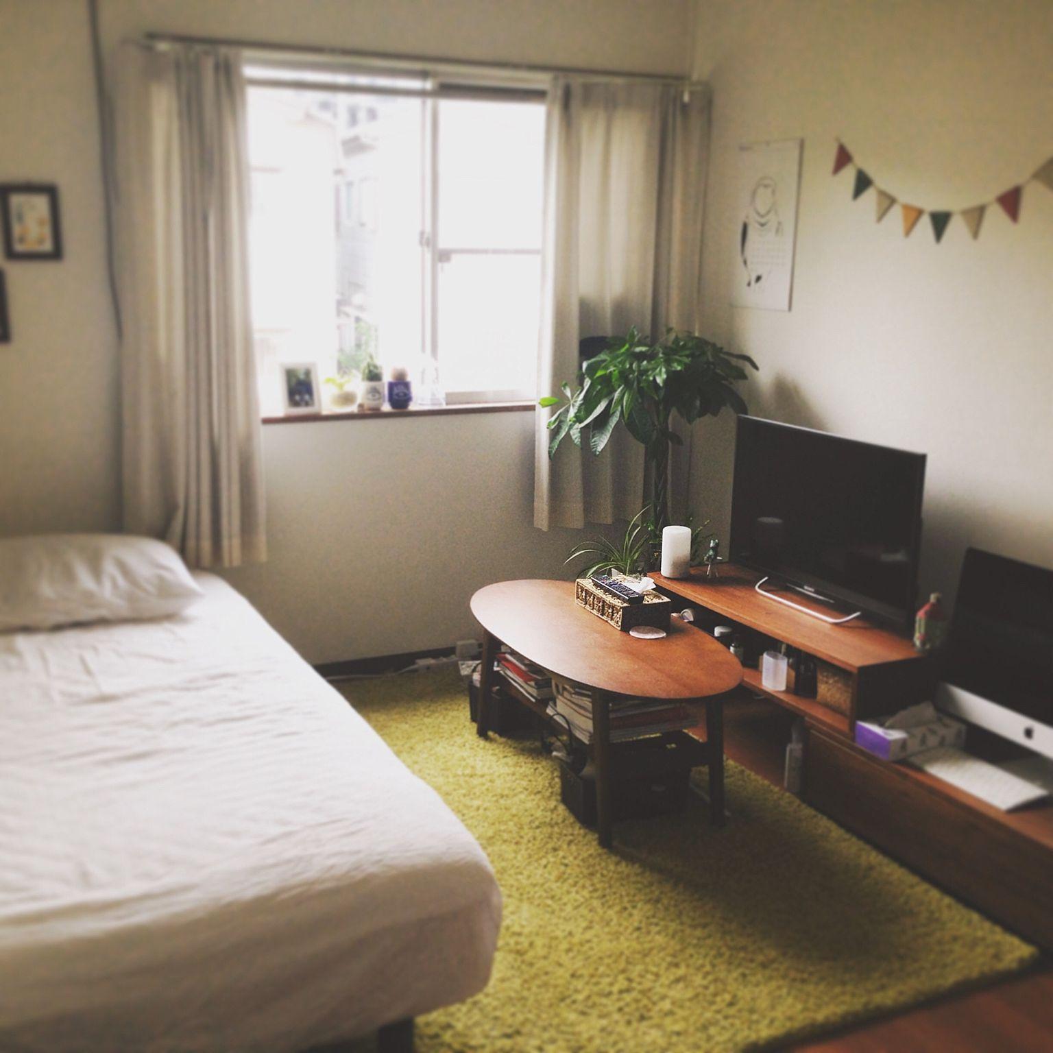 実例北欧レトロ③ おしゃれシンプルな男性一人暮らし部屋インテリア